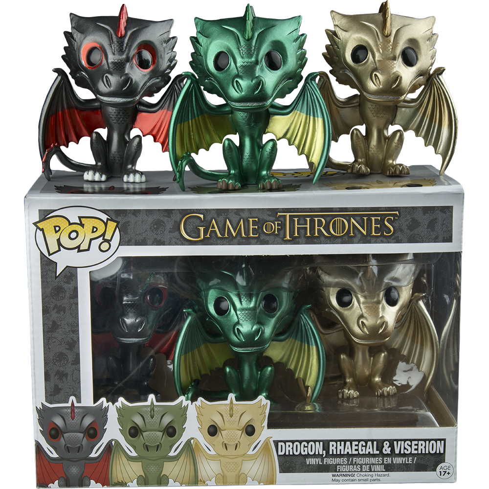 Funko Pop: Game of Thrones - Dragons 3-Pack