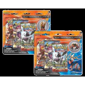 Pokemon Trading Card Game: Mega Blaziken and Mega Swampert 3-Pack Pin Blister