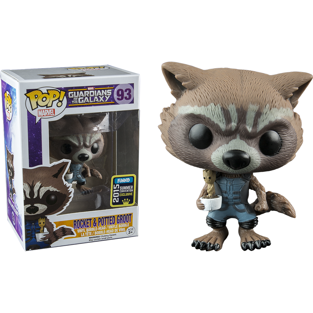 Funko Pop: Guardians of the Galaxy - Rocket and Potted Groot