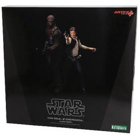 Kotobukiya Star Wars Han Solo & Chewbacca Artfx+ Statue