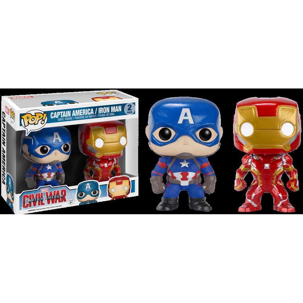 Funko Pop: Civil War - Captain America & Iron Man
