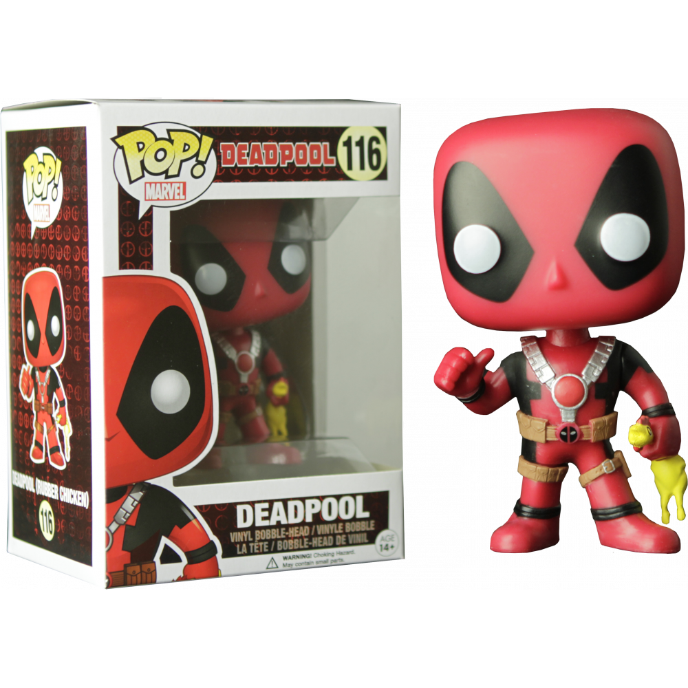 Funko Pop: Deadpool - Deadpool (With Rubber Chicken)