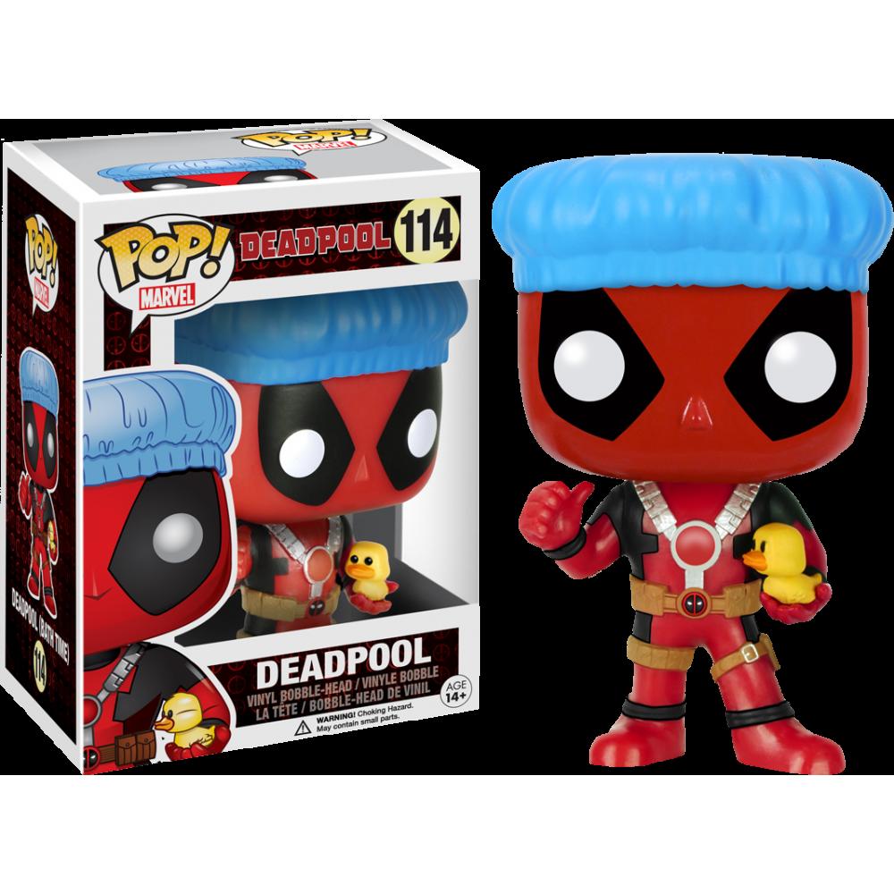 Funko Pop: Deadpool - Deadpool (With Shower Cap & Ducky)