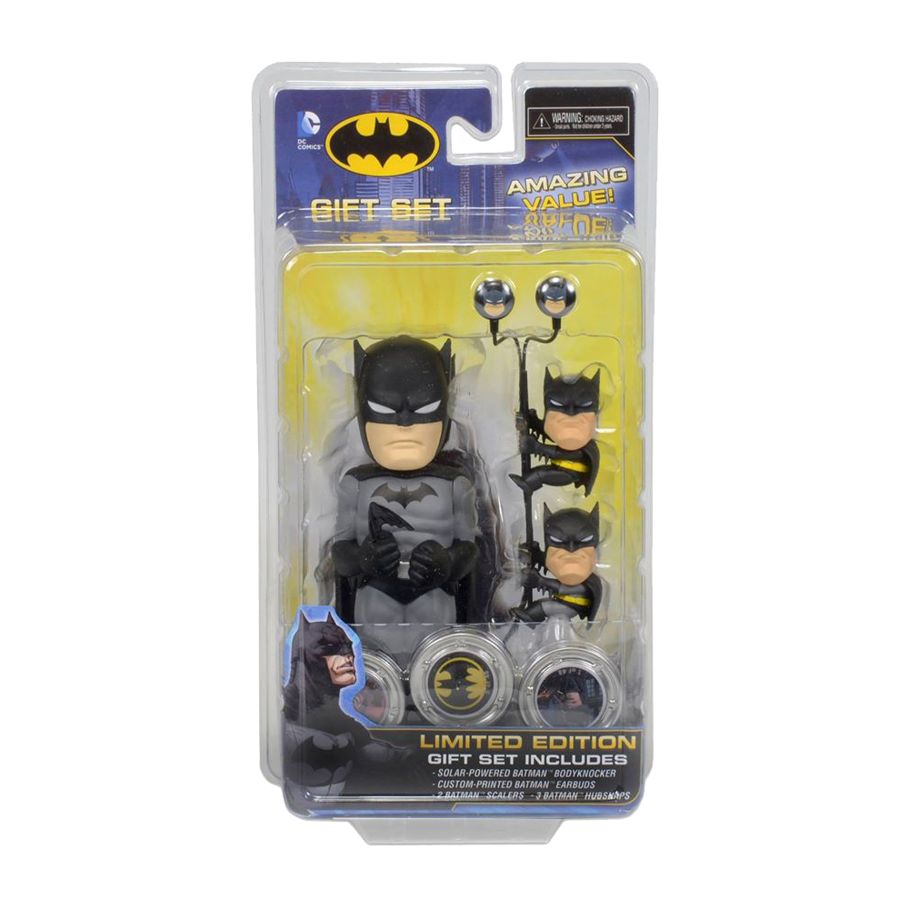 Batman Solar Powered Body Knocker with Earbuds Scalers and Hubsnaps