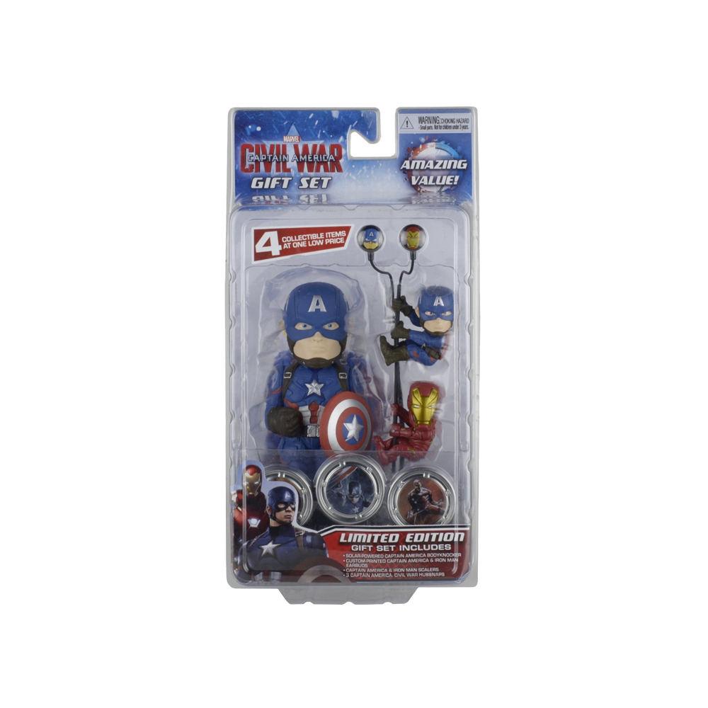 Captain America Civil War Solar Powered Body Knocker with Earbuds Scalers and Hubsnaps