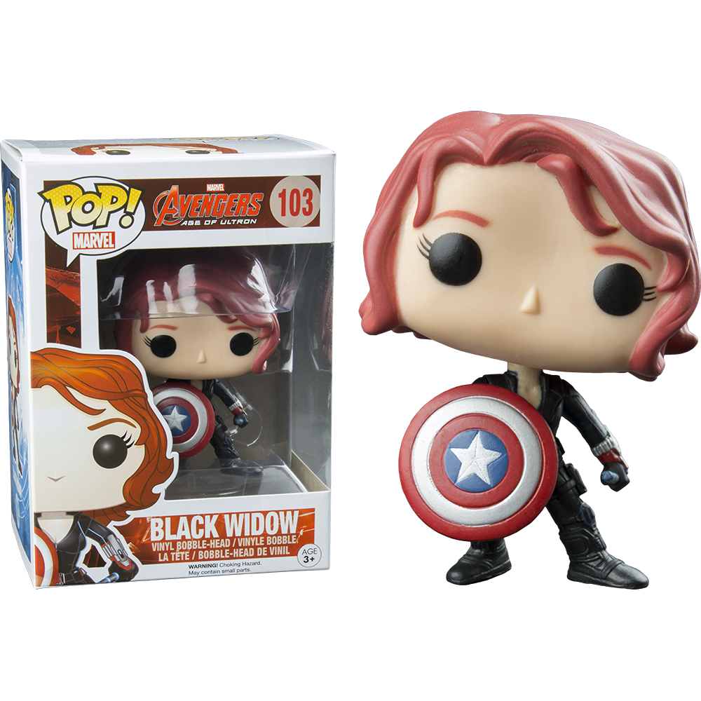 Funko Pop: Age of Ultron - Black Widow with Shield
