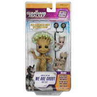 "Guardians of the Galaxy We Are Groot"" Solar Powered Body Knocker with Earbuds Scalers and Hubsnaps"