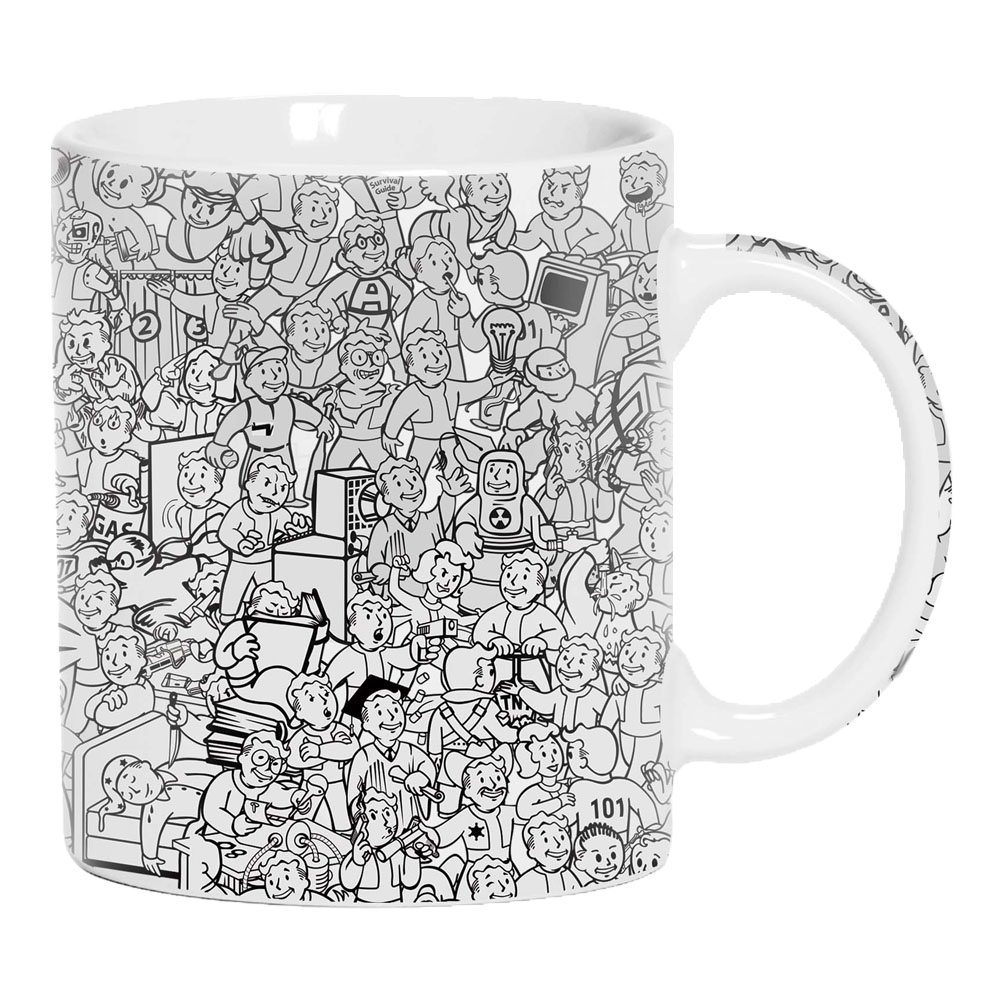 Fallout: Vault Boy Collage Mug