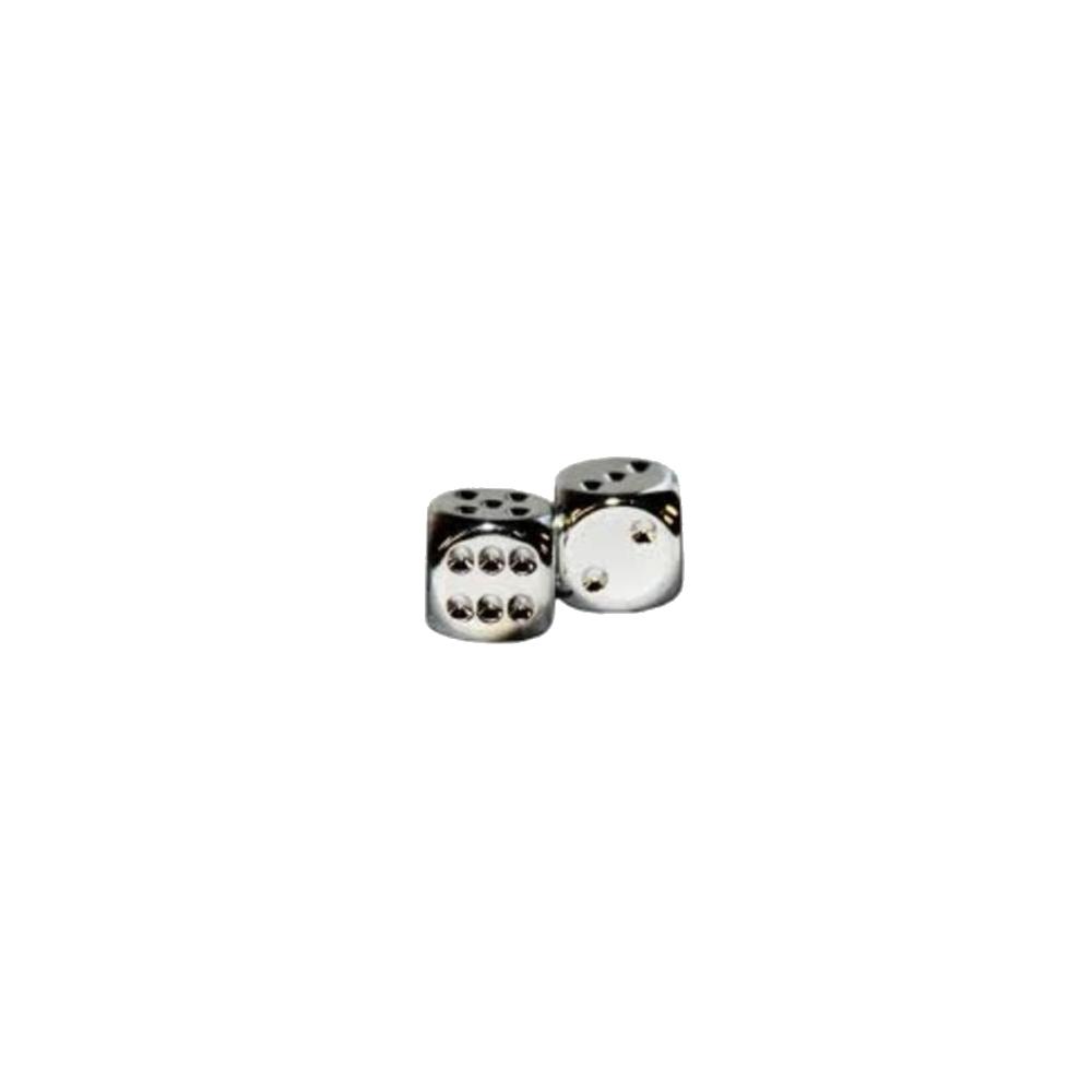 Silver Metallic D6 Dice