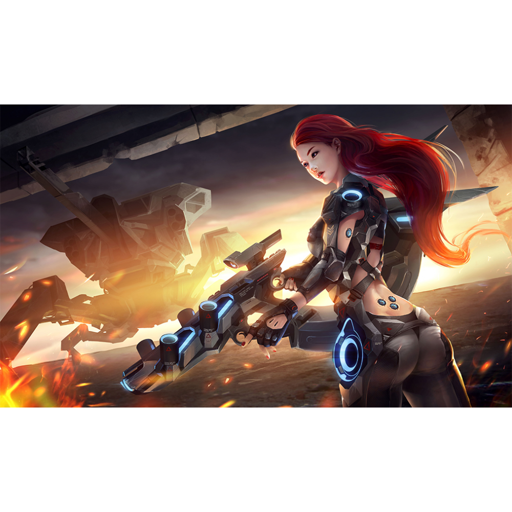 HCD Game Supplies: Play Mat - Cyborg Uprising