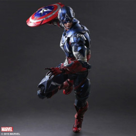 Play Arts Kai Action Figure: Captain America