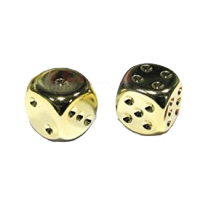 Gold Metallic D6 Dice