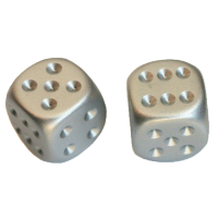 Aluminium Metallic D6 Dice
