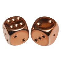 Copper Metallic D6 Dice