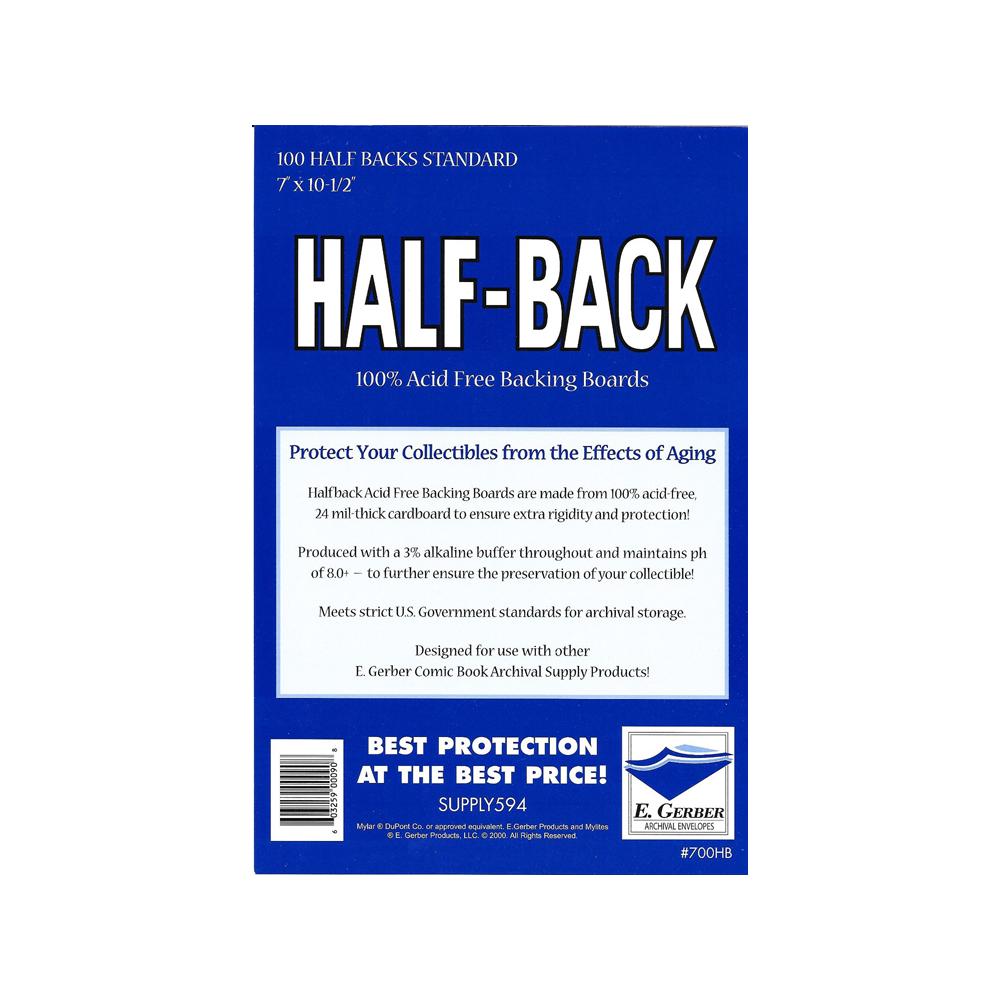 Half-back Boards: Standard Comic Size