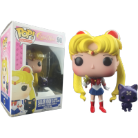 Funko Pop: Sailor Moon - Sailor Moon (With Wand) & Luna