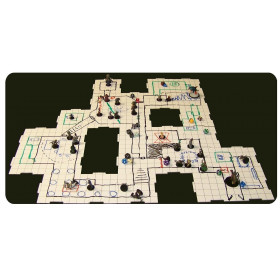 Dry Erase 5 inch and 10 inch Dungeon Tiles - Combo pack of 21