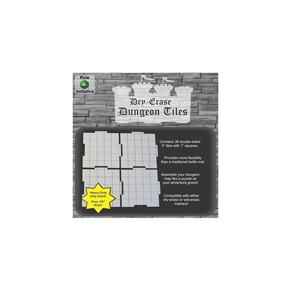 Dry Erase 5 inch Dungeon Tiles - Pack of 36