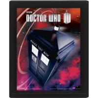 Doctor Who: Framed 3D Flying Tardis Poster