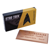 Star Trek: Dedication Plaque - Uss Enterprise Ncc-1701