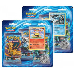 Pokemon Trading Card Game: XY12 Evolutions 3-Pack Pin Blister