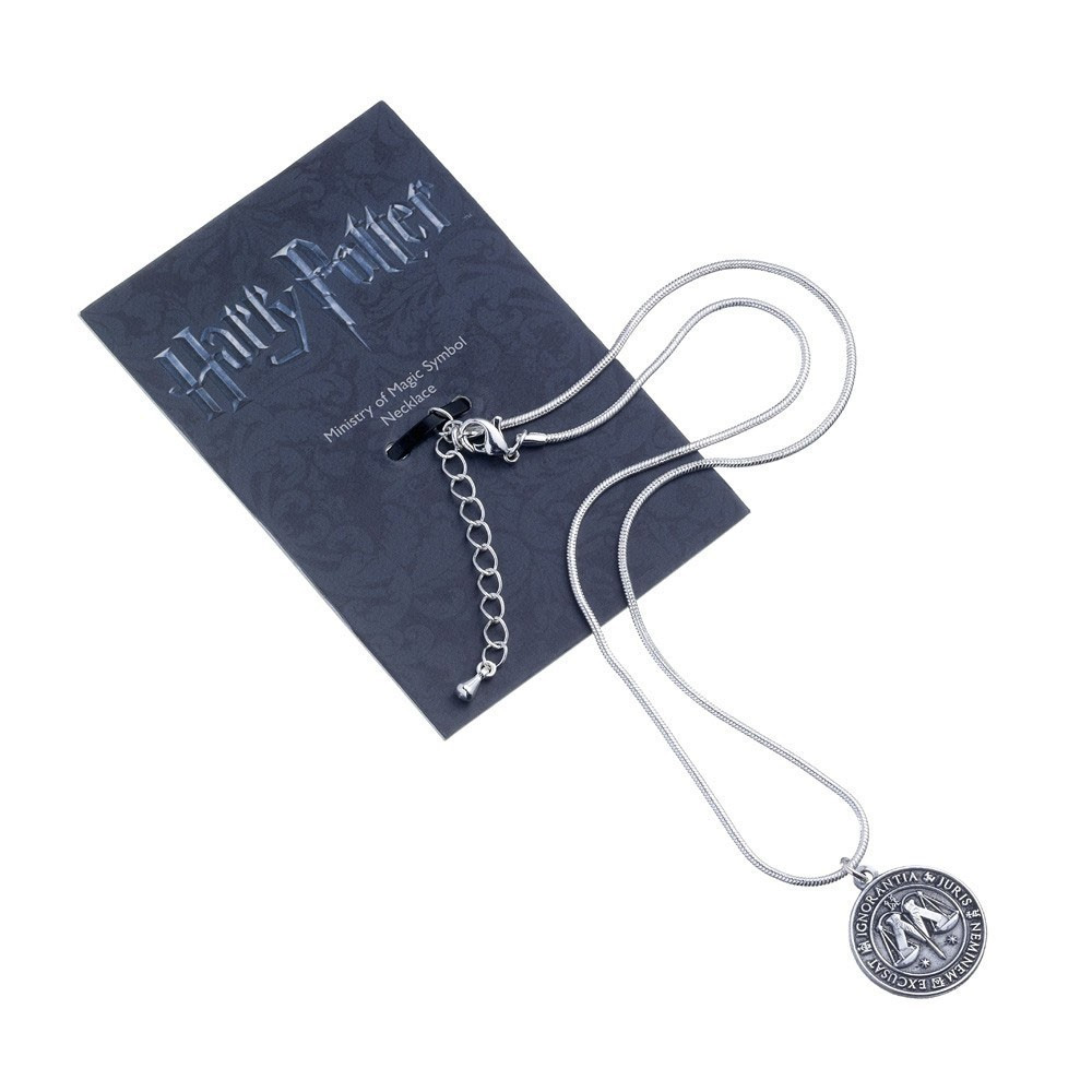 Harry Potter Pendant & Necklace Ministry of Magic (silver)