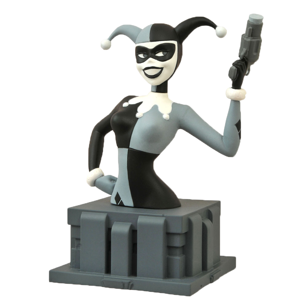 "Batman: The Animated Series - Bust ""Almost Got 'Im"" Harley Quinn Black & White (NYCC 2015 Exclusive)"