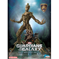 Guardians of the Galaxy: Hero Vignette 1/9 Groot & Rocket Raccoon 23 cm