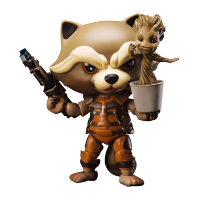 Guardians of the Galaxy: Action Figure Rocket Raccoon with Dancing Groot