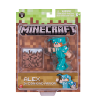 Minecraft: Action Figure Alex In Diamond Armor 8 cm