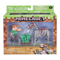 Minecraft: Action Figure Alex with Skeleton Horse 8 cm