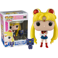 Funko Pop: Sailor Moon - Sailor Moon & Luna Glitter Variant