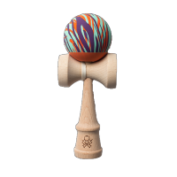 Kendama Rubber Grain Aqua Orange Purple