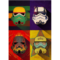 Star Wars: Metal Poster Pop Art Troopers Flame Squad