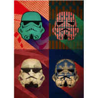 Star Wars: Metal Poster Pop Art Troopers Polygon Squad