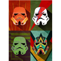 Star Wars: Metal Poster Pop Art Troopers Thunder Squad