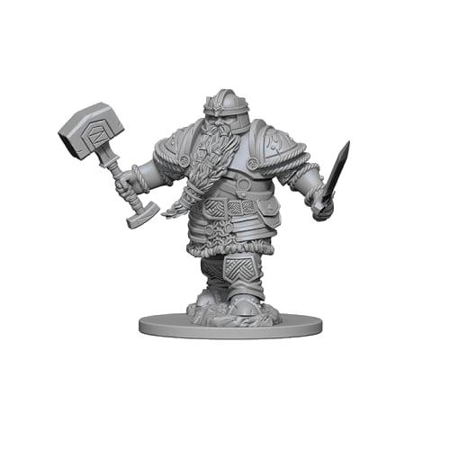 D&D Unpainted Miniatures: Dwarf Male Fighter
