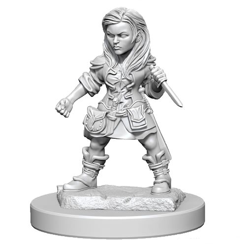 D&D Unpainted Miniatures: Halfling Female Rogue
