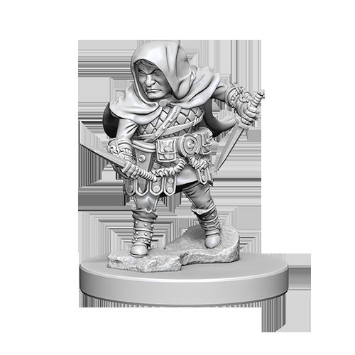 D&D Unpainted Miniatures: Halfling Male Rogue