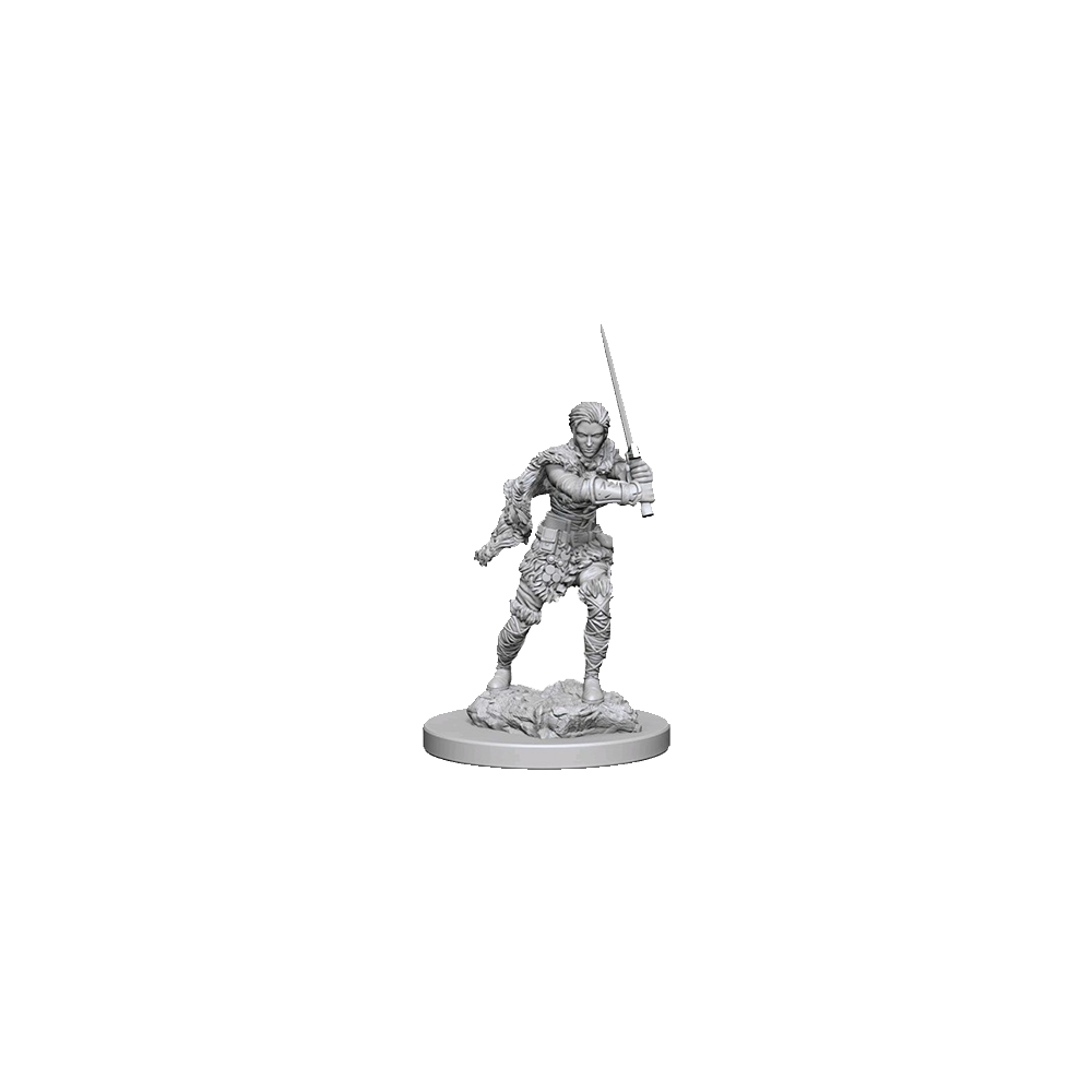 D&D Unpainted Miniatures: Human Female Barbarian