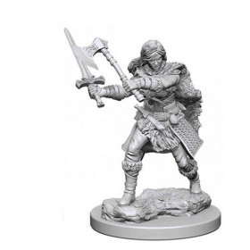 D&D Unpainted Miniatures: Human Female Barbarian