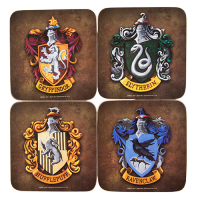 Harry Potter Hogwarts Crest Coaster Set