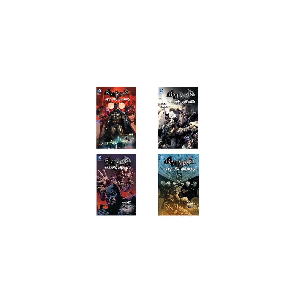 Set Batman Arkham Unhinged HC Vol 01-04