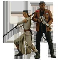 Star Wars Episode 7 Rey & Finn Artfx+ Statue