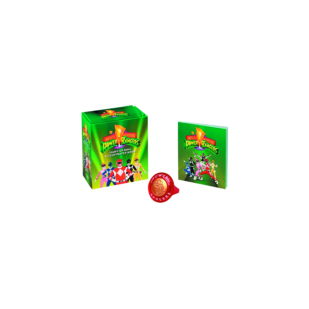 Mighty Morphin Power Rangers Light Up Ring & Illus Book Kit