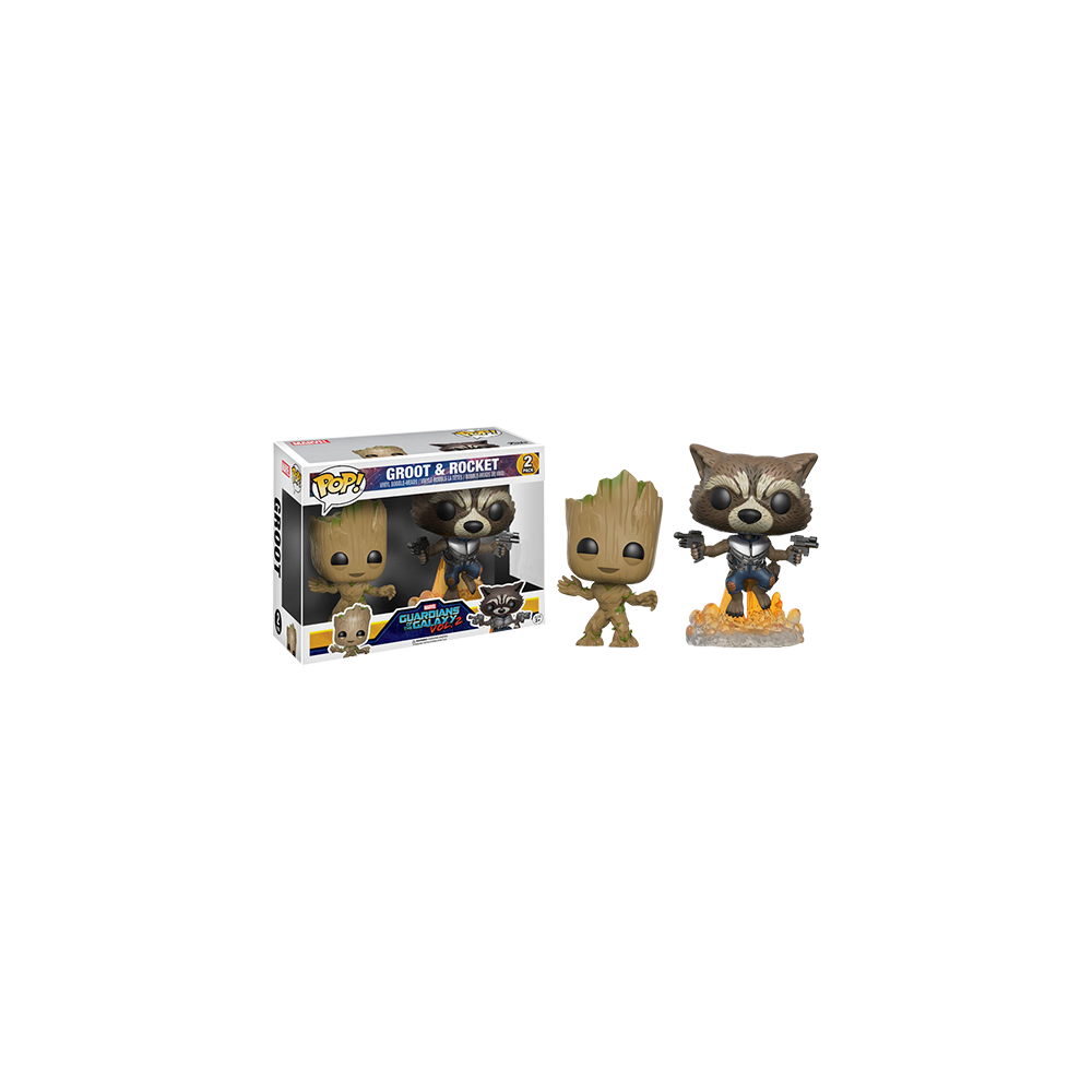 Funko Pop: Guardians of the Galaxy vol 2 - young Groot & Rocket Blasting 2-Pack