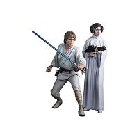 Figurină Star Wars: Luke Skywalker & Princess Leia Artfx+