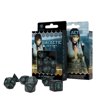 Galactic Dice Set black & blue