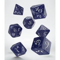 Classic RPG Dice Set cobalt & white
