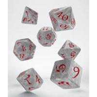 Classic RPG Dice Set pearl & red